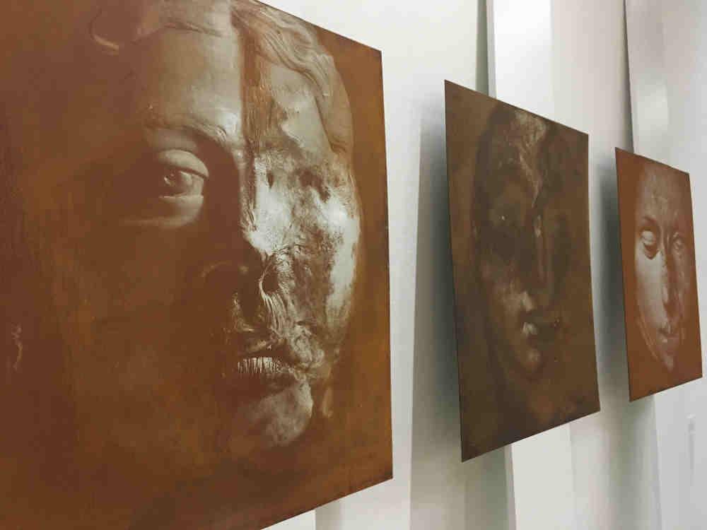 Stefan Kaczmarek, Acid Etched Portrait 1-3, 2017-2018