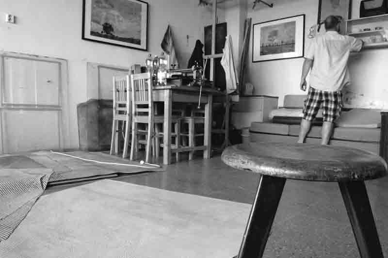 Vojtech Kovarik in his studio in Kolin, Czech Republic. Photograph by Katerina Kyselica.