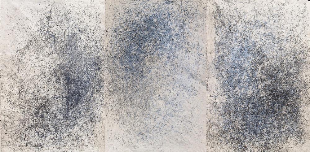 Ana Vivoda, Traces (three prints), 2016, lift-ground etching, drypoint