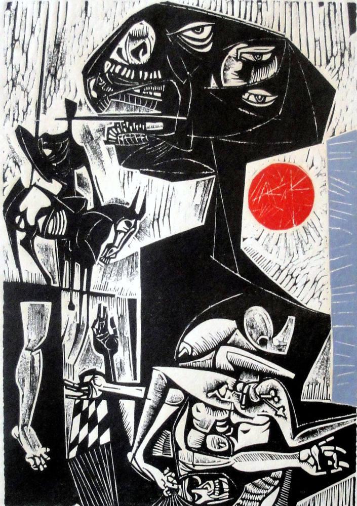 Vincent Hloznik, Untitled (from series Dreams), 1962, linocut