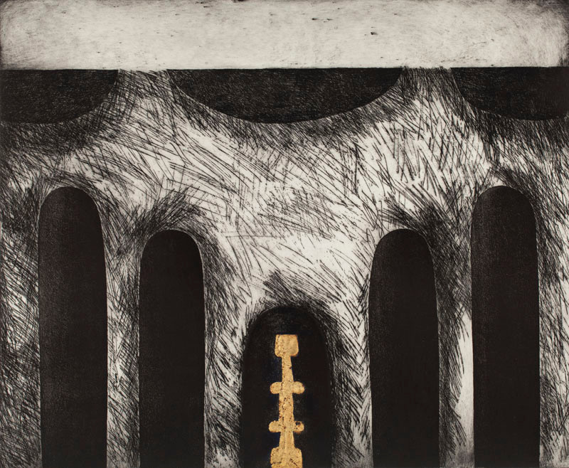 etching by Zdenka Golob in Celebrating Print Magazine
