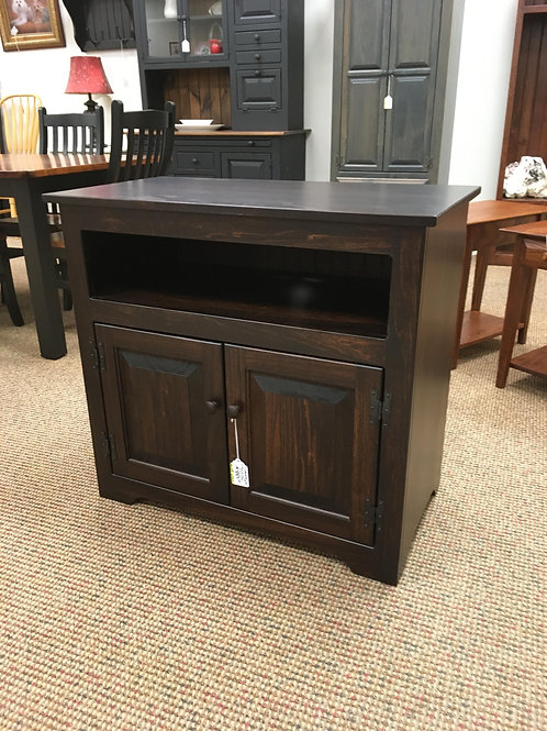 Poplar 2 Door TV Stand (Rich Tobacco)