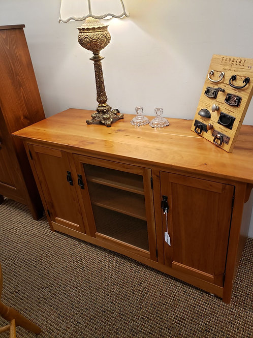 Character Cherry 3 Door Mission Media Cabinet (Natural)