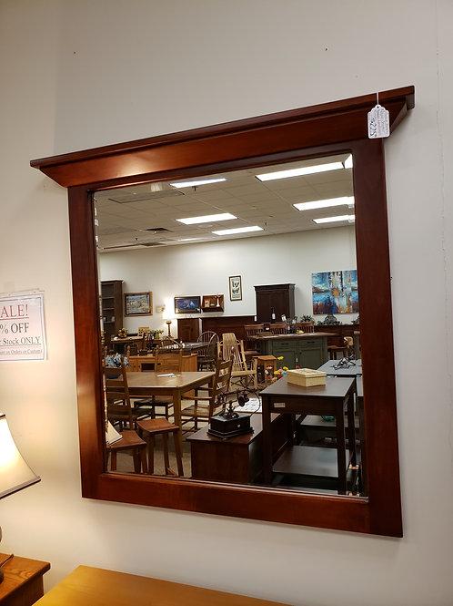 Brown Maple Shaker Beveled Landscape Hanging Mirror (Mission Maple)