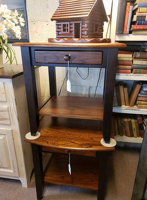"""Elm and Brown Maple """"Sierra"""" End Tables (Onyx and Michael's)"""