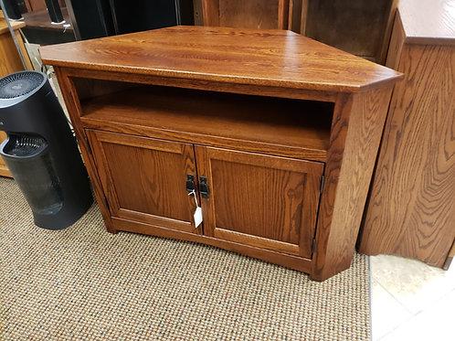 """Oak 2 Door """"Mission"""" Style Corner TV Stand (Michael's)"""