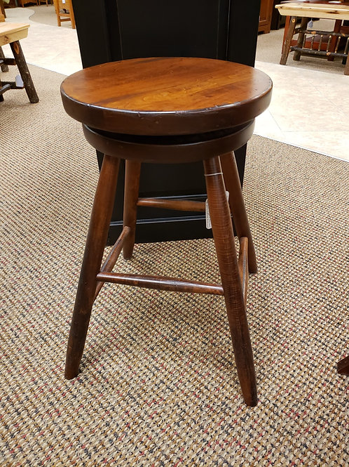 CLOSEOUT Brown Maple Antiqued Swivel Barstool (Antiqued Michael's)
