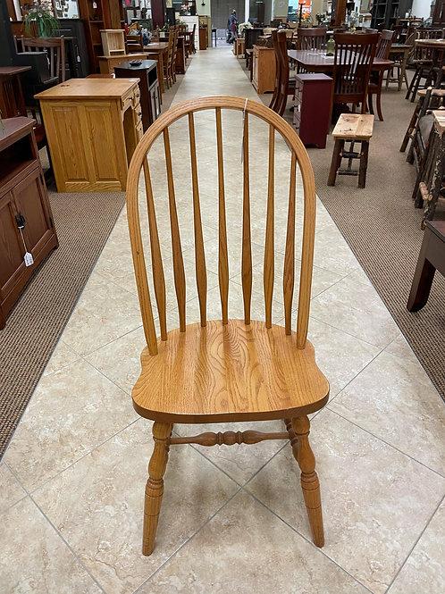 """Oak """"Saddle"""" Side Chair (Golden)"""