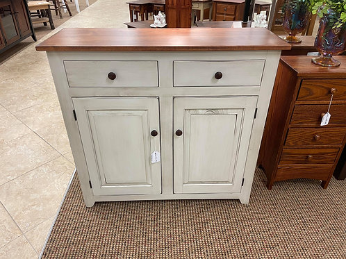 Pine with Wormy Maple Top Two Door Buffet (Cream and Michael's Cherry)