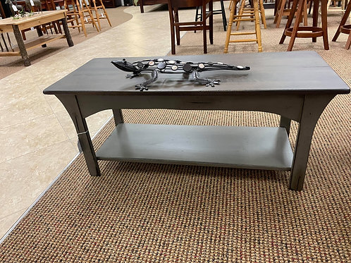 """CLOSEOUT Brown Maple """"Monarch"""" Coffee Table (Grey and Smoke) (DISCONTINUED)"""