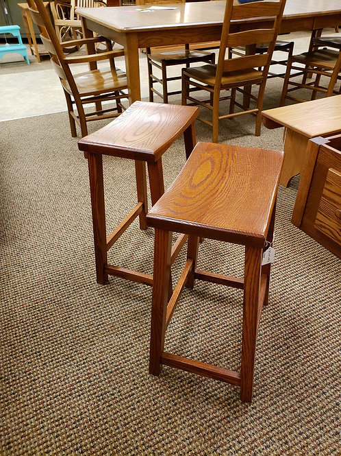 """Oak """"Contemporary"""" Pair of Barstools with 24""""H Seat (Michael's)"""