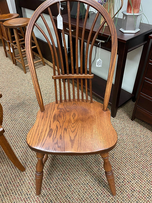"Oak ""Bow Wheat Back"" Side Chair (Michael's)"
