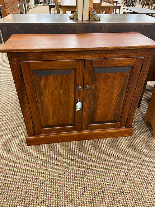 Poplar Low Bookcase with Doors (Michael's)