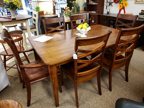 Wormy Maple Solid Top Table and Chair Set (Michael's Cherry)
