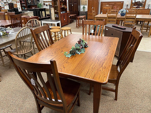 Oak 5 Foot Table and Chair Set (Michael's)