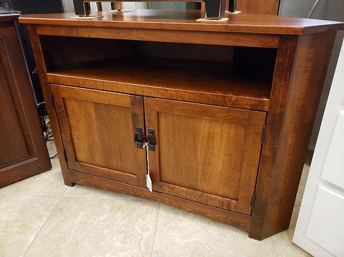 Brown Maple Mission Corner TV Cabinet (Michael's)