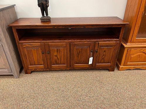Oak 4 Door Raised Panel TV Stand (Michael's Cherry)