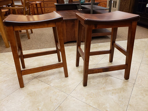 """Brown Maple Pair of """"Coby"""" Stools (Michael's)"""