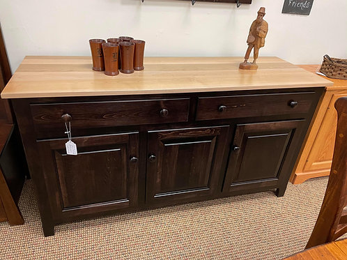 Brown Maple 3 Door Buffet (Natural and Onyx)