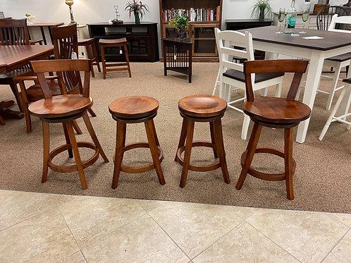 "Set of 4 Maple ""Turnstone"" Barstools with Swivel (Michael's)"