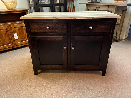 Wormy Maple 2 Door Buffet (Natural and Onyx)