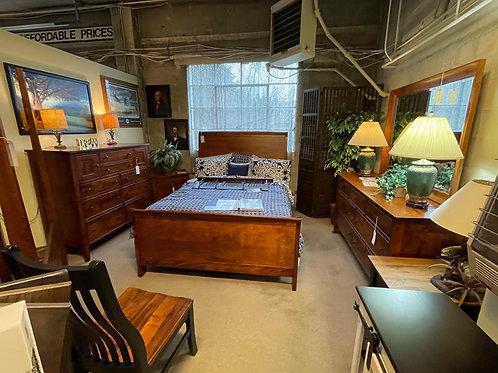 """Brown Maple """"Chelsea"""" 4 Piece Bedroom Suite (Michael's)"""