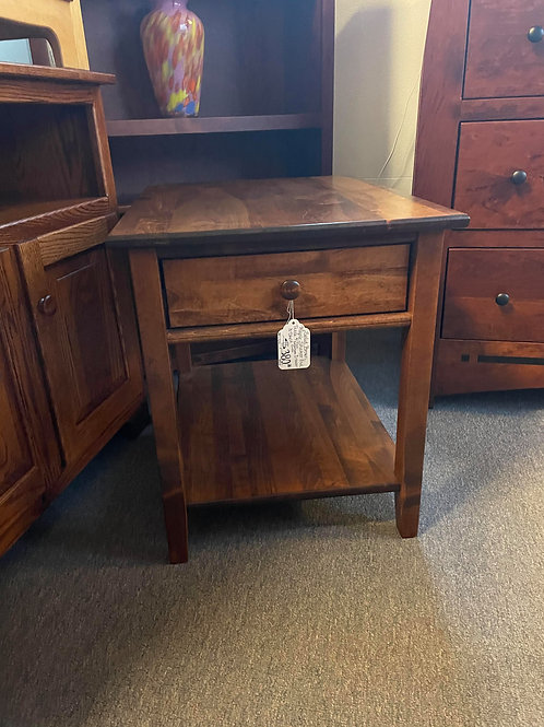 "Brown Maple ""Shaker"" End Table (Michael's)"