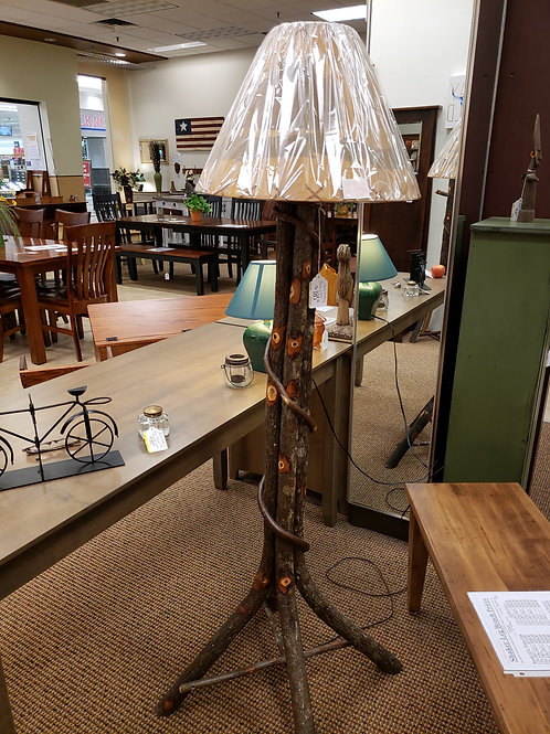 Hickory Floor Lamp (Bark)