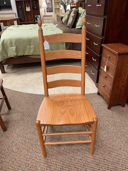 "Oak ""Shaker Ladder Back"" Side Chair (Discontinued Stain)"