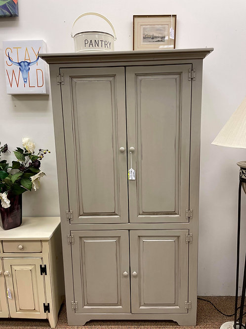 Six Foot Large Bookcase with Doors (Grey)