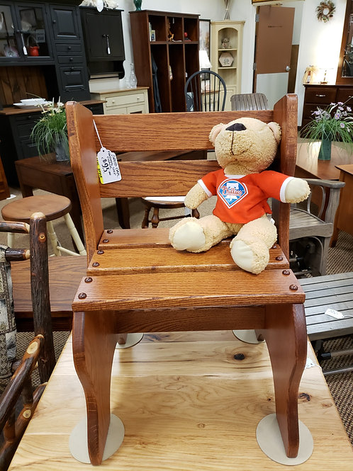 Oak Folding Step Chair (Michael's)