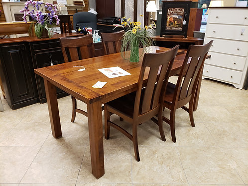 Wormy Maple Western Plank Table and Chair Set with Breadboard Ends (Michael's)