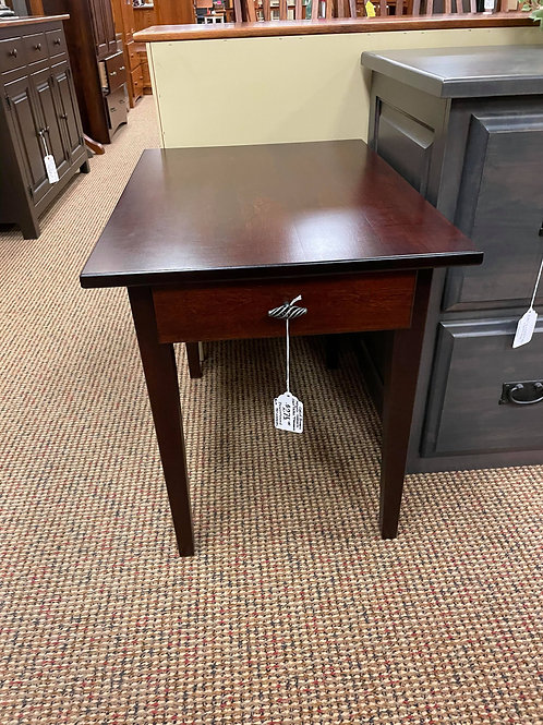 "Brown Maple ""Shaker"" End Table (Rich Cherry)"