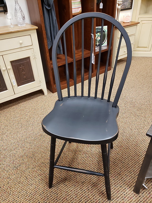 Brown Maple Bowback Barstool (Black)