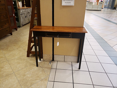 Pine 1 Drawer Hall Table (Black and Michael's Cherry) (LAST ONE)