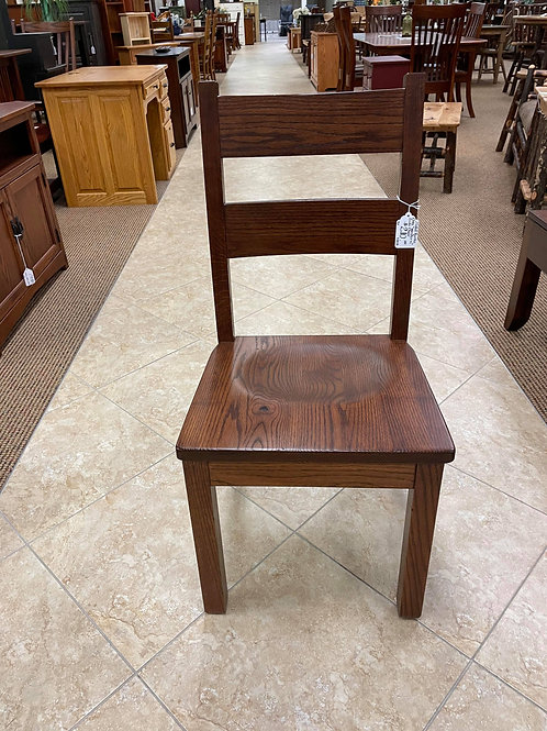 "Rustic Oak ""Western"" Side Chair (Boston)"