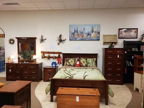 Brown Maple Five Piece Bedroom Suite (Rich Cherry)