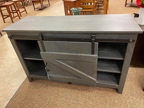 """Rustic Pine 50"""" Sliding """"Barn Door"""" TV Stand (Antique Slate)"""