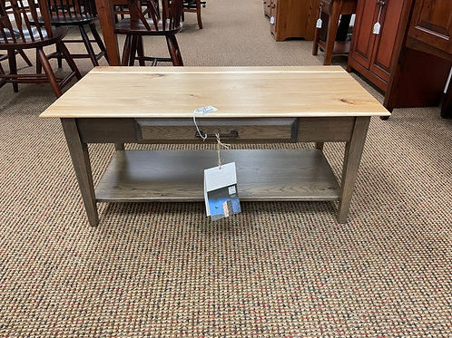 """Rustic Hickory """"Simplicity"""" Coffee Table (Smoke and Natural)"""