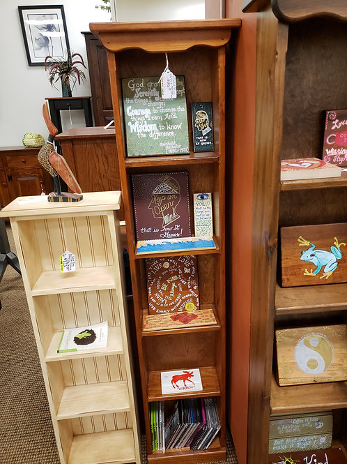 Pine Narrow Bookcase/CD and DVD Stand (Cherry) (Last One)
