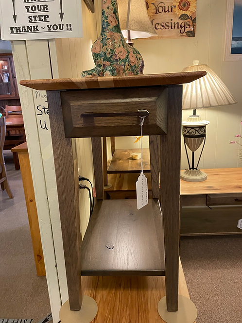 """Rustic Hickory """"Simplicity"""" Chair Side Table (Smoke and Natural)"""