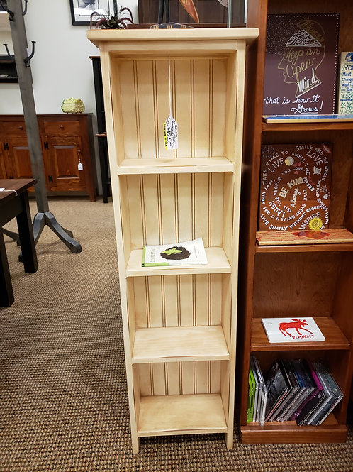 Pine Narrow Mini Bookcase/CD and DVD Stand (Cream) (Last One)