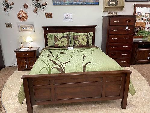 Brown Maple 3 Piece Bedroom Suite (Rich Cherry)