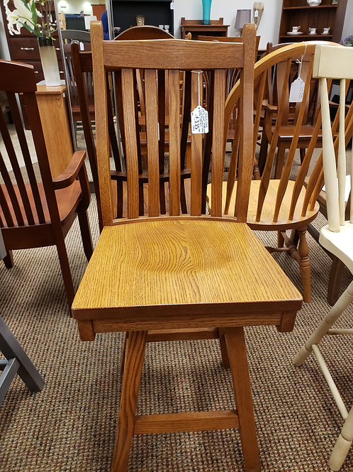 "Oak ""78 Mission"" Barstool with Swivel (Seely)"