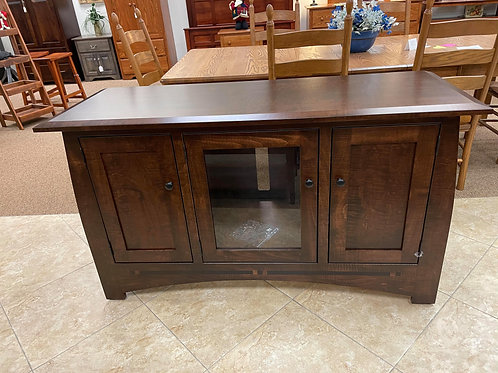 """Brown Maple 56"""" """"Aspen"""" TV Stand with Ebony Inlay (Coffee)"""