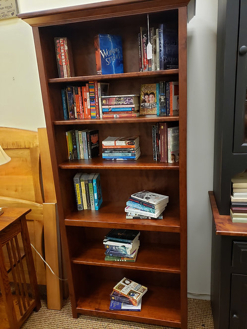 CLOSEOUT Character Cherry Bookcase with Crown Molding (Michael's)