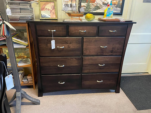 "Brown Maple ""Oxford"" 9 Drawer Mule Chest (Onyx)"