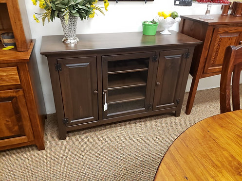 """Pine with Wormy Maple Top 52"""" TV Stand (Kona)"""