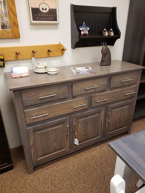 Oak 6 Drawer and 3 Door High Buffet (Pewter)
