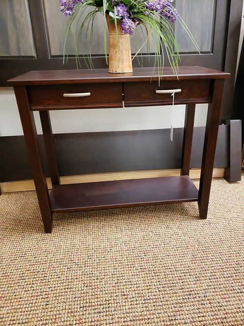 """Brown Maple """"Manhattan"""" Style Sofa Table with 2 Drawers (Rich Cherry)"""